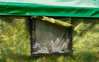 палатка армейская берег окно