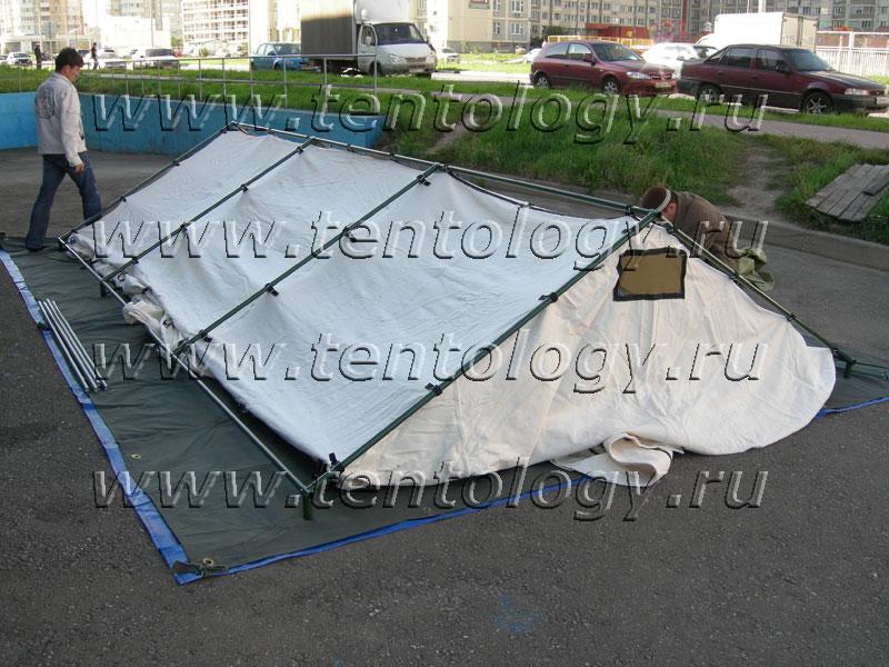 палатка М-10 крыша утеплитель