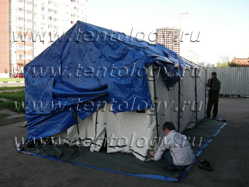 палатка М-10 сборка установка