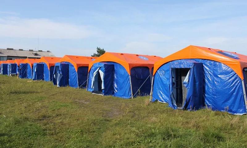 Палатки МЧС с наружным каркасом